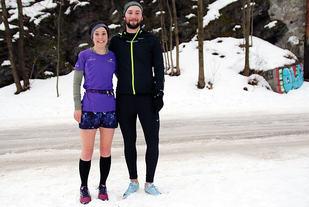 Helen Carr og Calum Leitch løp sine første Tøyen Parkrun og vant. Foto: Heming Leira