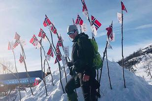 Bjørg-Marit Valland var raskeste kvinne i årets Expedition Amundsen.  Foto: Arrangøren