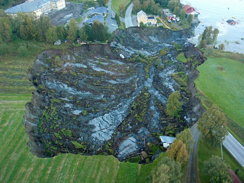 Kvikkleireskred ved Lyngseidet i Troms
