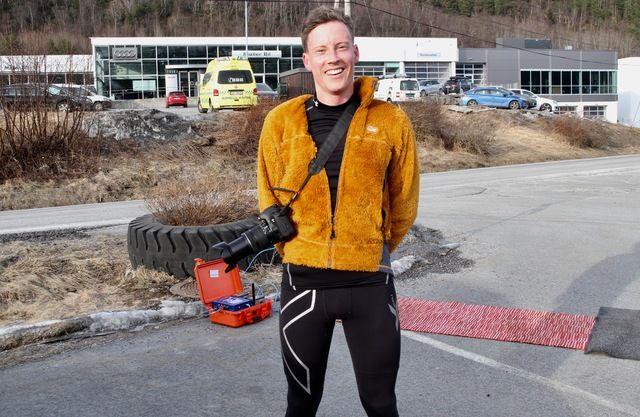 Martin Hauge-Nilsen var både løper og fotograf for Kondis. Martin vant 5 km og kneip seg under 18 minutt.