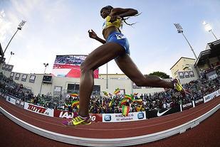 Genzebe Dibaba var suveren også på 1500 meteren. (Arkivfoto: Bjørn Johannessen)