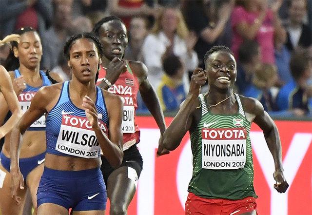 Wilson fra USA og Niyonsaba fra Burundi hadde en tøff kamp om VM-gullet. (Arkivfoto: Bjørn Johannessen)