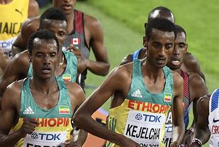 Yumif Kejelcha vant 3000 meteren i innendørs-VM for to år siden og gjentok bedriften nå. (Arkivfoto: Bjørn Johannessen)