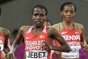 Ruth Jebet kommer fra Kenya, men løper for Bahrain. Nå blir hun beskyldt for dopingbruk. (Foto: Bjørn Johannessen)