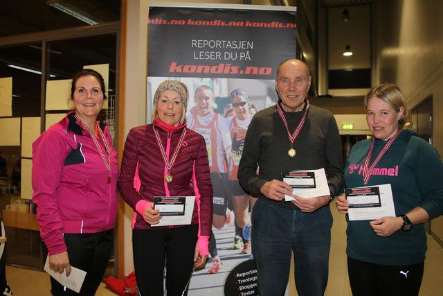 Under fjorårets finale ble det trukket ut 5 gavekort på et årsabonnement fra Kondis. Her er 4 heldige vinnere.