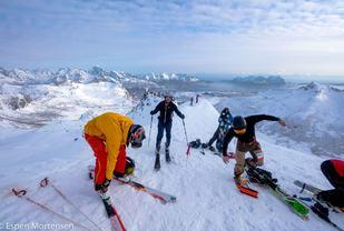 På toppen. (Foto: Espen Mortensen)