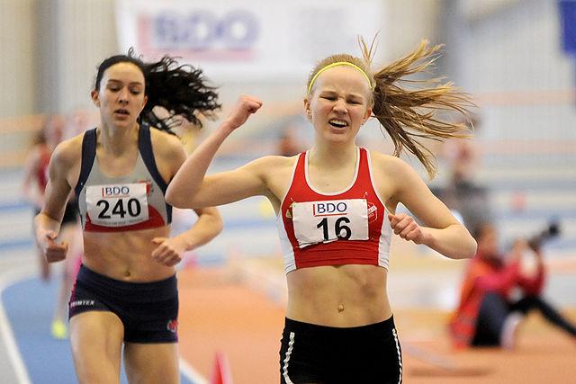 Mari Andreassen Rud kan juble over å ha vunnet både klassen og heatet