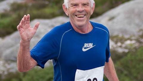 Steinar Øen på Fitjar Halvmaraton 2012. (Foto: Oddny Ringheim)