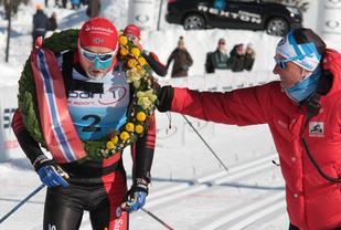 Andreas Nygaard var raskest i Birkebeinerrettet, som han også var i Vasaloppet. (Foto: Finn Olsen)