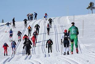 En fantastisk dag i gode skispor i årets Birkebeinerrenn. Foto Geir Olsen/Birken