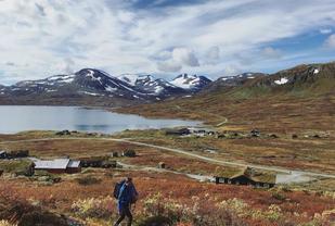 Tyinholmen 1100 moh blir lokalisering for CP2 i Salomon XREID 2018. Foto: Arrangøren