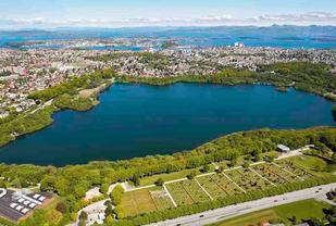 Mosvatnet  som Stavanger Parkrun vil gå rundt.