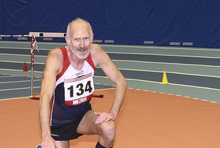 60 år gamle Øyvind Bernes løp inn til sølv på 800 meteren i veteran-EM innendørs. (Arkivfoto: Tom Roger Johansen)