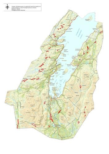 Kart - rasting på islagte vann