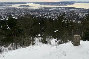 Utsikten over Oslo og Oslo-fjorden er god - hvis en rekker opp før mørket senker seg. (Foto: arrangøren)