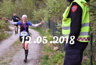 Kristine Os var en av 136 fullførende i fjorårets 38 km lange Riska TrailRun. Arrangørfoto.