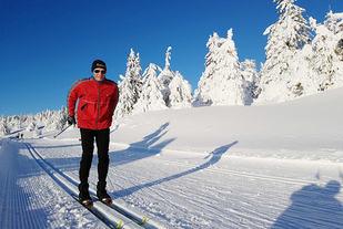 Vinteren var aldri vakrare enn i år, og eg let meg lokke ut i løypa. (Foto: Bjørn Johannessen)