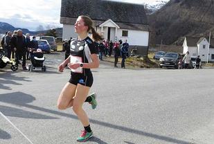 Løyperekord: Haugesunds lovande mellomdistanseløpar, Vilde Våge Henriksen, forbetra rekorden med ni sekund. (Foto: Olav Samland