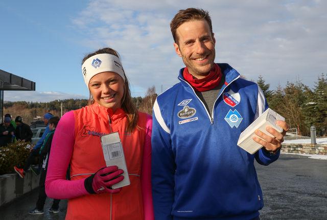 To glade vinnere på Vårdilten i Ålesund, Live Johanne Vestre Røkke og Marcus Megrund. Foto: Martin Hauge-Nilsen
