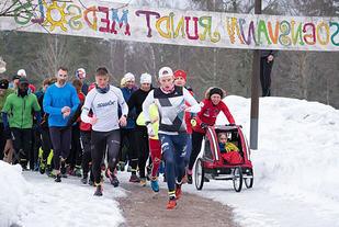 Starten på det 500. første Sognsvann Rundt Medsols. Foto Jørgen Lindalen
