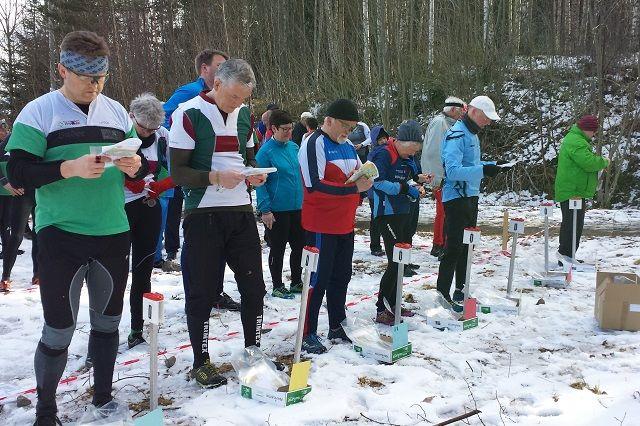 Det var itt snø på første løpet i 2017 også. (Foto: Stein Arne Negård)