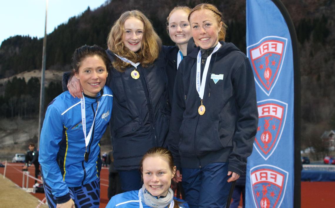Varegg tok sin første seier i Fri stafetten for kvinner senior
