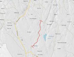 Grytelandsveien stengt vår 2018 - kart