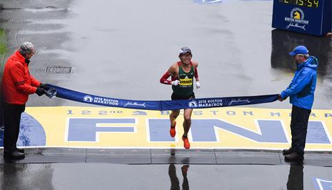 Yuki Kawauchi har vunnet mange maratonløp, men at han skulle vinne en World Marathon Major, hadde knapt noen trodd på forhånd. (Foto: arrangøren)