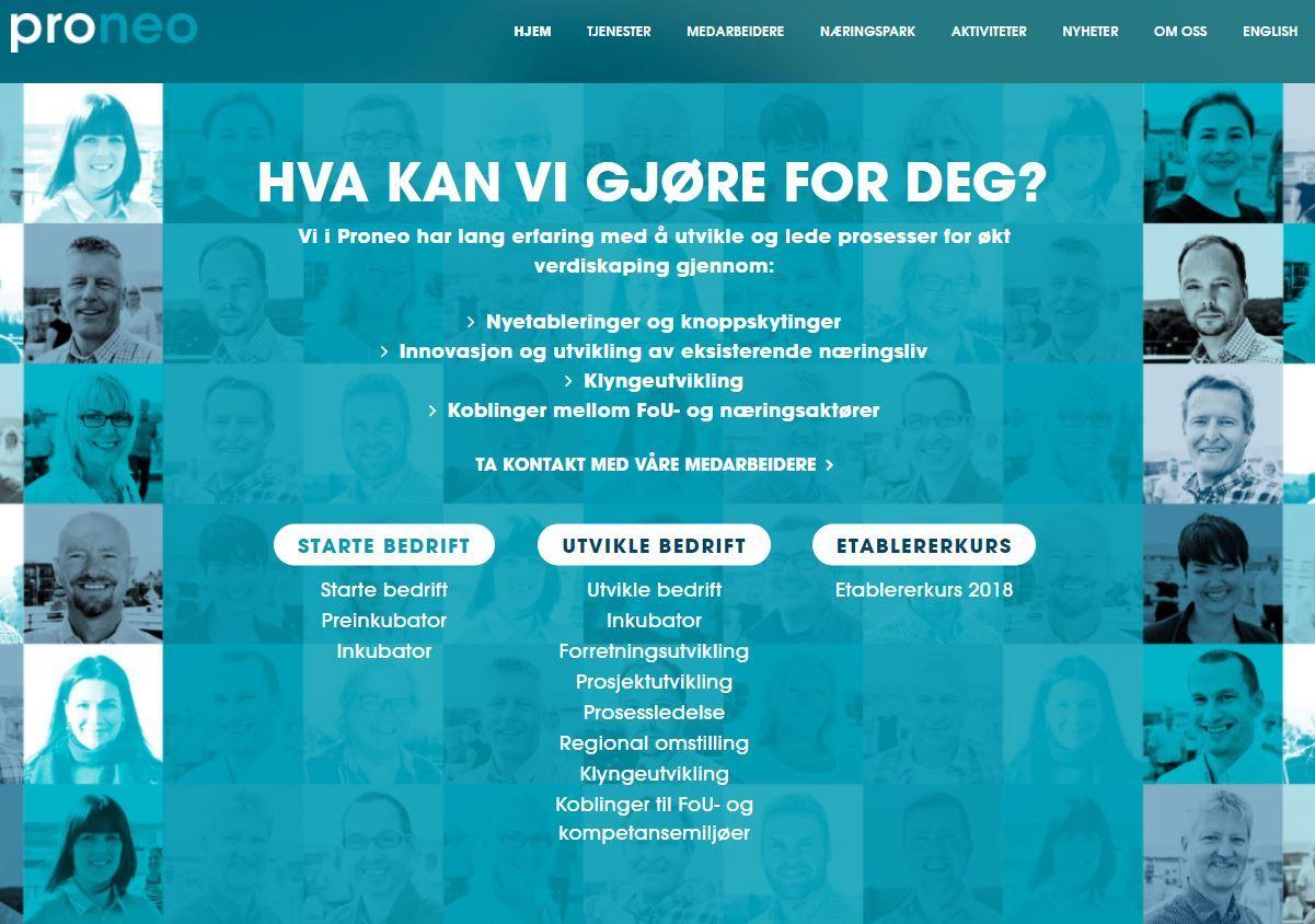 Proneo hjemmesider