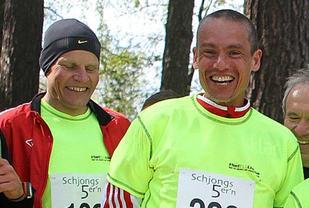 Runar Gilberg og Tim Bennett før det historiske Schjongsfemmern i 2014.