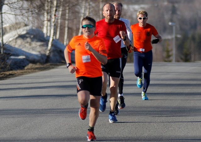Fire sekunder skilte denne kvartetten i mål på Rudshøgda med Simen Olsen Kirkevik (16) som den første foran Miroslaw Baran, Jan Hovde og Tommy Mikkelsen.