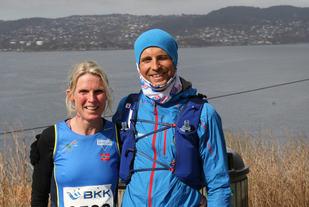 Nancy Sommer og Torbjørn Ludvigsen etter løpet