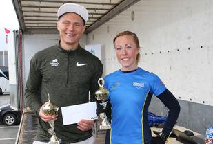 Sondre Øvre-Helland og Eli Anne Dvergsdal med bestemannspremier