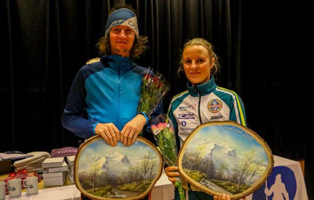 Kjell Magnar Berli og Pernille Ibsen Lervåg, Velledalen IL. Foto: Martin Hauge-Nilsen