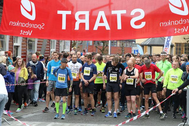 Start halvmaraton i 2018. (Foto: Tom Roger Johansen)