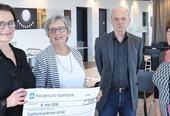Tysvær Revmatikerforening har i flere runder bidratt med gaver til Rehabilitering Vest. Det har blant annet gitt nye informasjons-skjermer i fellesområdene.