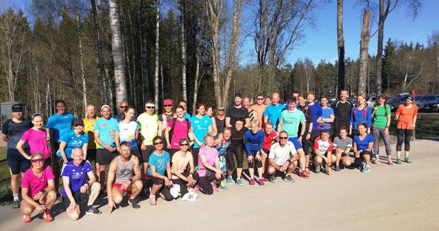 8. mai var det hele 44 deltakere på Kondistreninga!