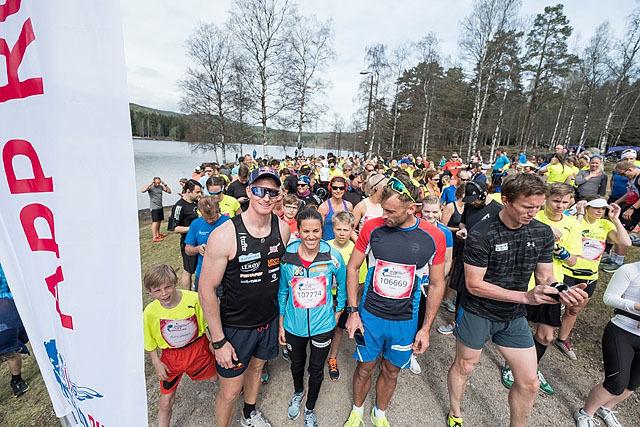 Klart for start på Sognsvann med Heidi Weng, Petter Northug og Frank Løke. Foto: Red Bull Content Pool