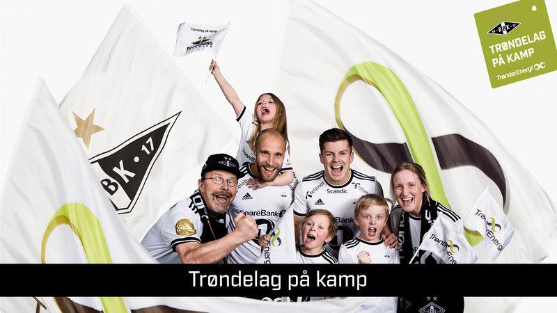 Bildet viser ivrige RBK-supportere.