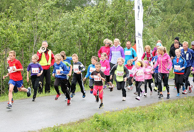 Nå skal de unge i Tromsø få sin egen løpskarusell. Her fra Eidemila 2013. (Foto: Bjørnar Leithe Borch)