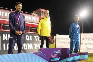 Tyske Richard Ringer vant foran franske Moram Abdouni og italienske Yemaneberhan Crippa. (Foto: arrangøren)