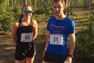 Kveldens totalvinnere: Ella Stokken og Henrik Nilsson (Foto: Geir Ove Aasum)