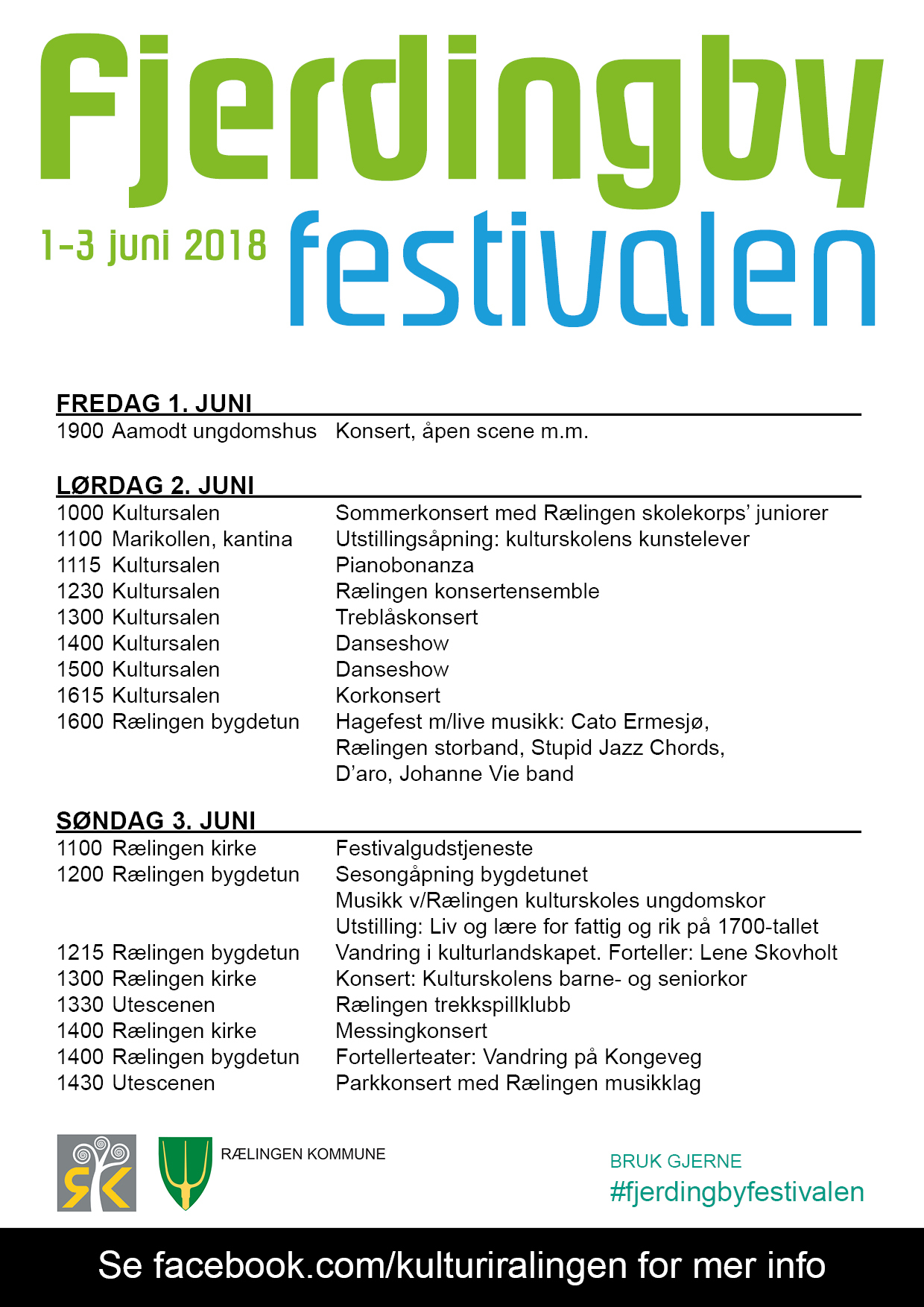Program Fjerdingbyfestivalen 2018