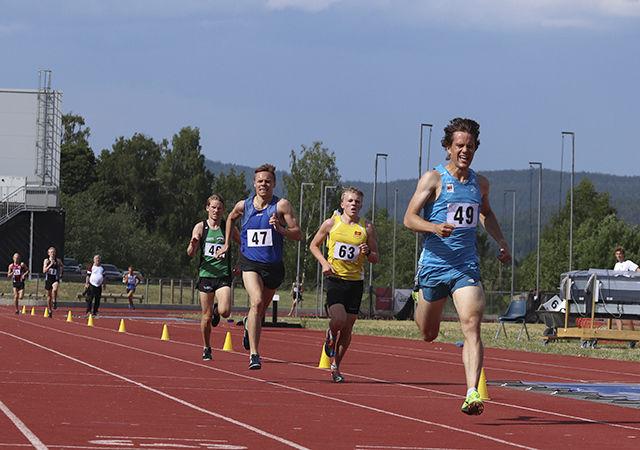 Eirik Gramstad spurta inn til seier på 3000 m med 8.22,70. (Foto: Ole Petter Mandt)