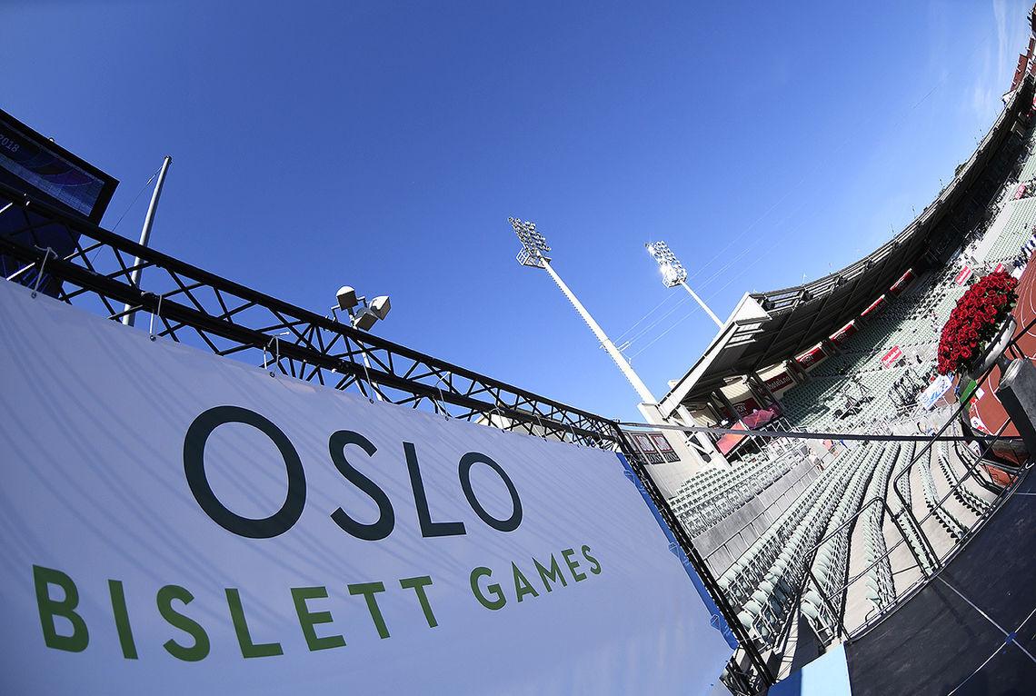 Bislett Games er i gang, og tribunene fylles gradvis. (Foto: Bjørn Johannessen)