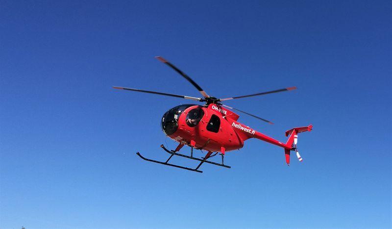 helikopter - linjeskanning