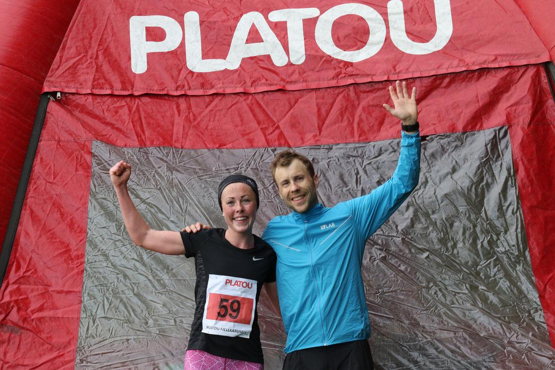 Eli Anne Dvergsdal og Stian Angermund-Vik etter løpet