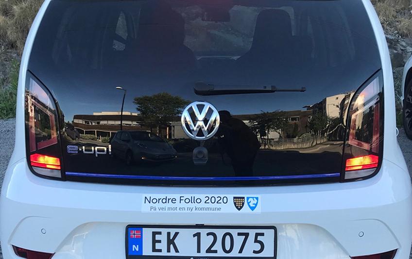 Tjenestebiler i Ski og Oppegård skal merkes med Nordre Follo 2020 på vei mot en ny kommune, i tillegg til egen logo.