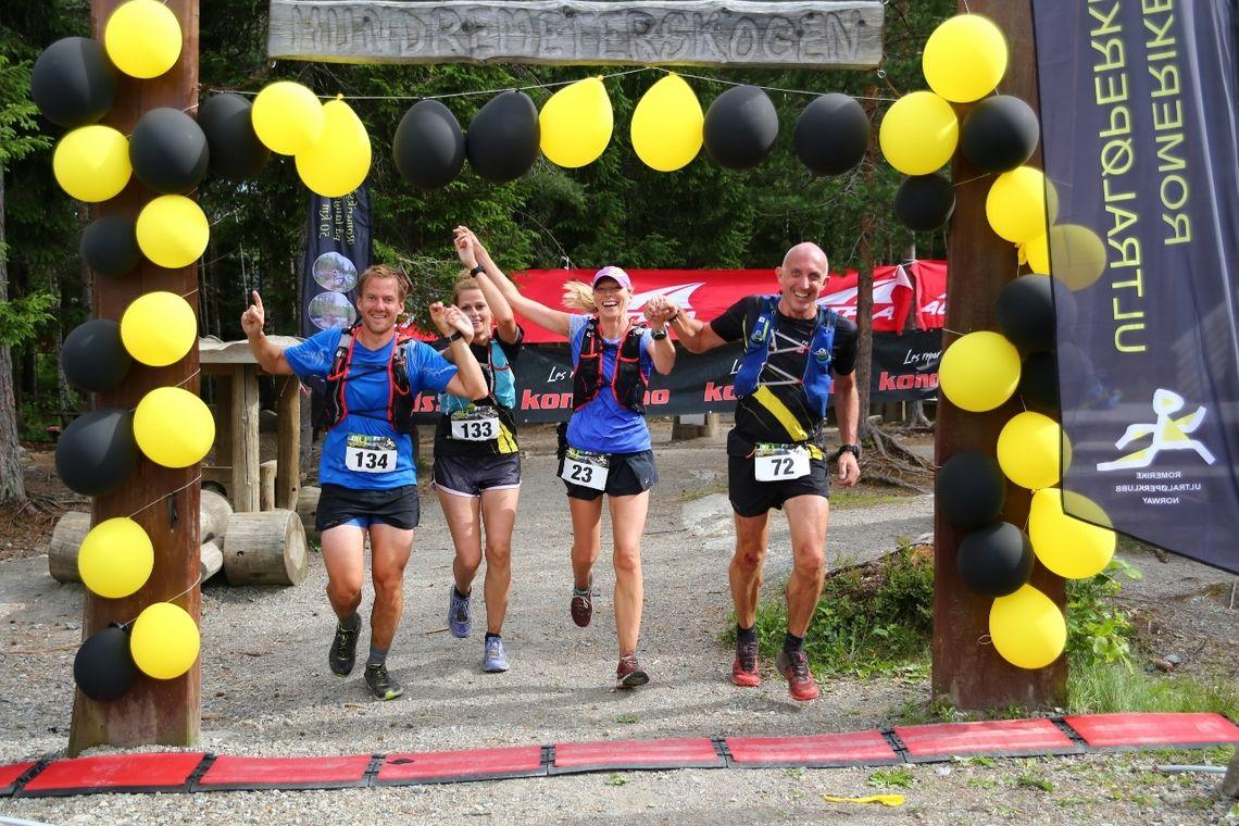 Så glad blir men etter å ha løpt 50 kilometer i Romeriksåsen på langs. (Foto: Bjørn Hytjanstorp)