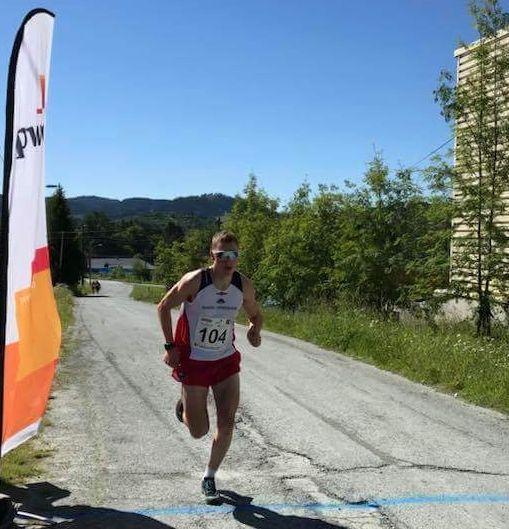 Andreas Dahlø Wærnes tar også spurtprisen under løpet. Foto : Arrangøren